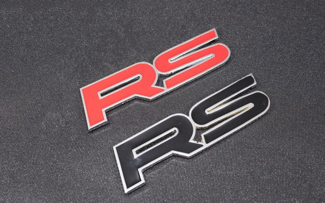 100 st cke mix farbe schwarz rot metall rs emblem. Black Bedroom Furniture Sets. Home Design Ideas