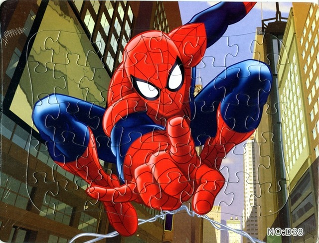 Spiderman Toys For Kids : Big size paper jigsaw puzzles toys for children kids brinquedos