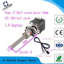 42 шариковый винт шаговый двигатель спиральный шаг 4 SFU1204 0.4Nm Nema 17 42 шариковый шаговый двигатель