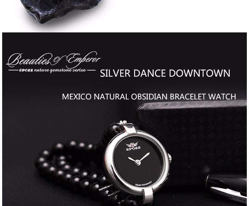 pedras senhora relógios de quartzo contas analógico