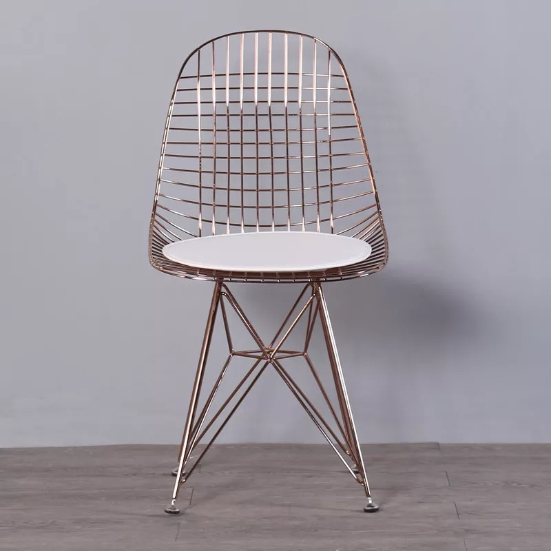 Free Shipping U-BEST Restaurant Chair Harry Bertoia Wire Chair,Industrial & Vintage Iron Metal Wired Dining Chair