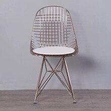 Envío Gratis U-BEST restaurante silla harry bertoia de silla Industrial y Vintage de hierro Metal cable de la silla de comedor