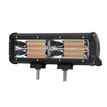 ECAHAYAKU 1x 11inch LED WORK Light Bar 144W Combo White Amber Strobe Flash Work 12V 24V DRL for Driving Offroad Boat Truck