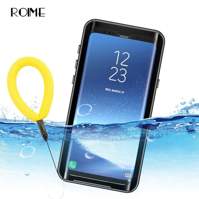 กรณีกันน้ำสำหรับ Samsung Galaxy S9 S9plus กันกระแทก Dirtproof กรณีเต็มรูปแบบสำหรับ Samsung S 9 S9 Plus ว่ายน้ำกรณี