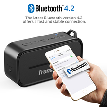 Tronsmart Element T2 Bluetooth 4.2 Outdoor Water Resistant Speaker Portable and Mini Speaker- Black