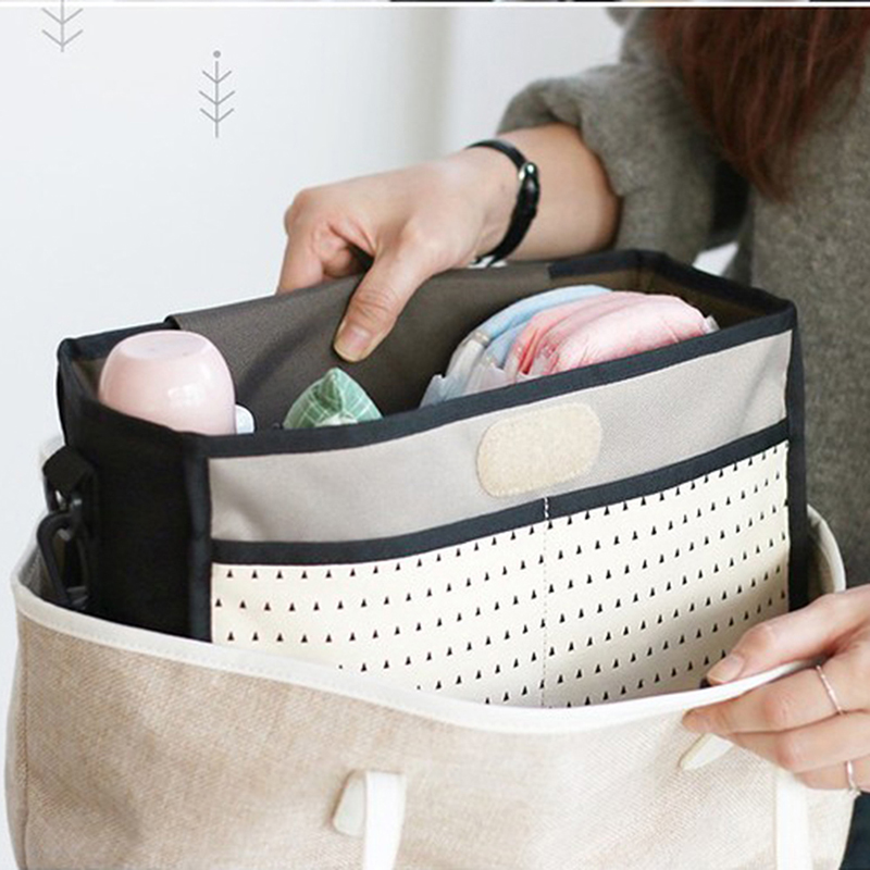 HTB1e3 SKeuSBuNjSsziq6zq8pXao Baby Stroller Bag Nappy Diaper Mummy Bag Hanging Basket Storage Organizer Baby Travel Feeding Bottle Bag Stroller Accessories