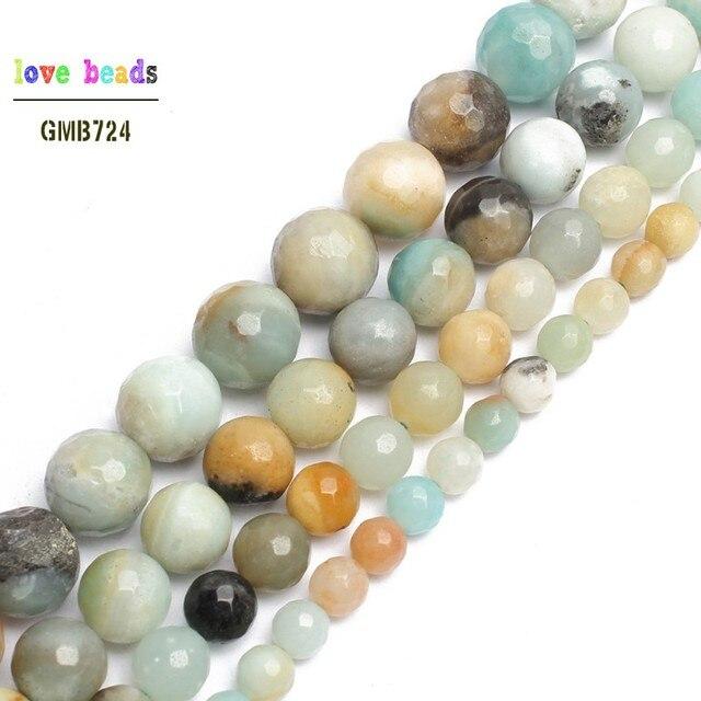 d8f41e3ed3e6 Venta al por mayor Piedra Natural facetado colorido amazonita perlas ...