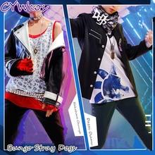 Anime Cosplay Bungo Stray Dogs Dazai Osamu Nakahara Chuuya Costume Man Suits Coat+Shirt+Pants