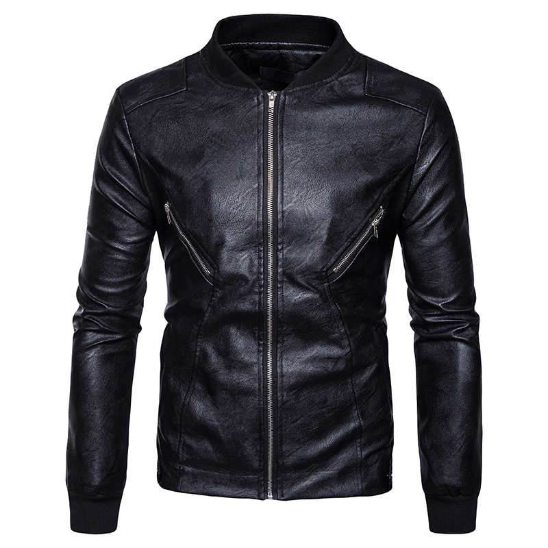 High quality creative new fall winter clothing wholesale Mens Fashion Leather hem cuff s ...