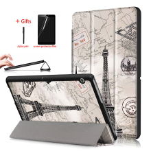 цена на PU Leather Case For Huawei MediaPad T3 10 Tablet PC Protective Trifold Cover For Huawei MediaPad T3 10 9.6 AGS-W09 AGS-L09 Case