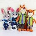 2016 Kawaii Zootopia Плюшевые Игрушки 23-33 см Кролик Джуди Хопс и фокс Ник Уайлд Дети Куклы Мультфильм Аниме Плюшевые Куклы для Детей подарок