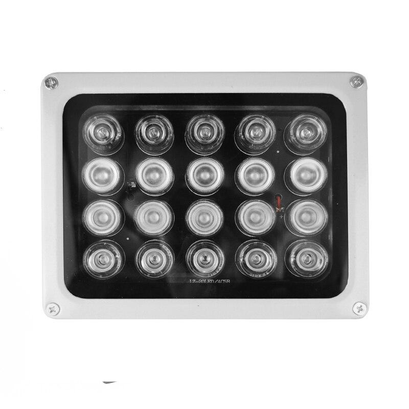 20 светодиодов ИК инфракрасный светильник IP65 850nm Водонепроницаемый ночного видения инфракрасного освещения CCTV заполняющий светильник для к