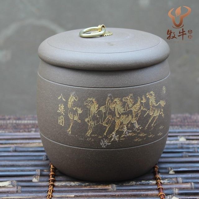 Yixing tea wholesale all kinds of storage tank mud schungite Bajun tank accessories store Zisha tea tea mixed batch