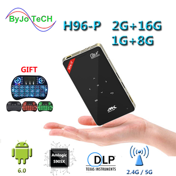 цена на ByJoTeCH H96-P Projector 1G 8G Or 2G 16G Mini Portable pocket Projector DLP Projector Android proyector Home theater system H96p