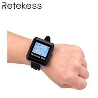 Restaurant Wireless RF Wrist Watch 433MHz Waiter Call Bell Pager Watch Receiver For Wireless Calling System Customer Service