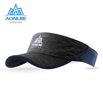 AONIJIE E4080 letnia osłona przeciwsłoneczna czapka sportowa plaża Golf maraton wędkarski z regulowanym paskiem anty UV szybkoschnący lekki tanie i dobre opinie Unisex Szybkie suche Poliester Stałe