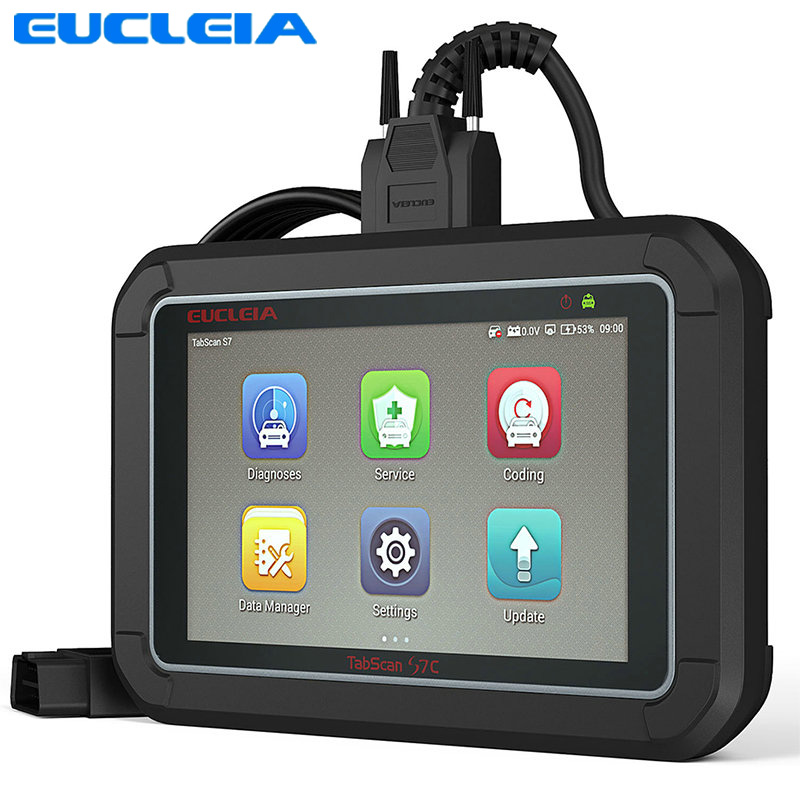 EUCLEIA S7C OBD2 Scanner Full System ODB2 Car Diagnostic Tool ABS EPB SAS DPF Oil Service Reset OBD2 Automotive Scanner ancel fx6000 full system obd2 automotive scanner for transmission abs airbag sas engine epb check reset programming obd2 scanner