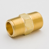 20PCS Brass Pipe Fitting Hex Nipple Joint 1/8 1/4x1/8 1/4 NPT Male Thread Plumb Water Gas Connector Accessory