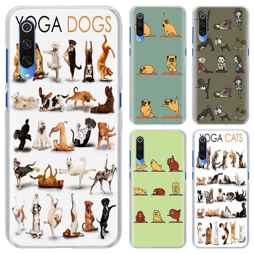 ✔  Йога животных кошек собак Телефон Чехол Xiaomi Mi 9 8 Lite A1 A2 Lite Redmi 5 5A 6A Note 6 7 S2 Жест ①