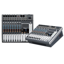 Mixing console recorder 48 V phantom power monitor AUX effect path 8-12 channel audio mixer USB comes with power amplifier E