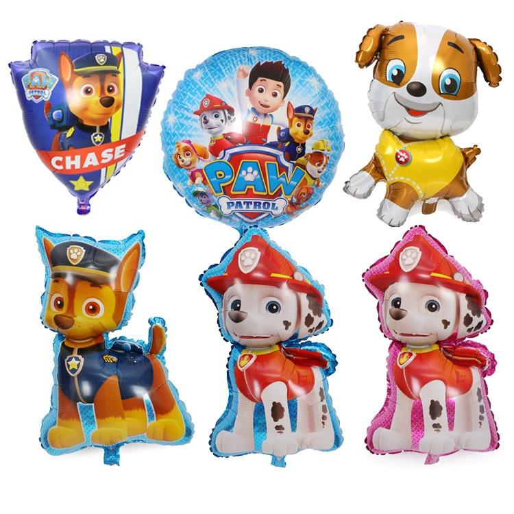Щенячий патруль, уличная забавная Спортивная собачий патруль, ачиль, маленькая собачка, украшения из воздушных шаров на день рождения, мультяшный собачий патруль, шар из фольги, игрушка для вечеринки в подарок|Мячики|   | АлиЭкспресс