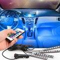 Luzes do Carro Pé Lâmpada Atmosfera LEVOU Colorido Decoração Da Lâmpada Atmosfera Interior Lâmpada Modificação de Automóvel Interior 4/Set