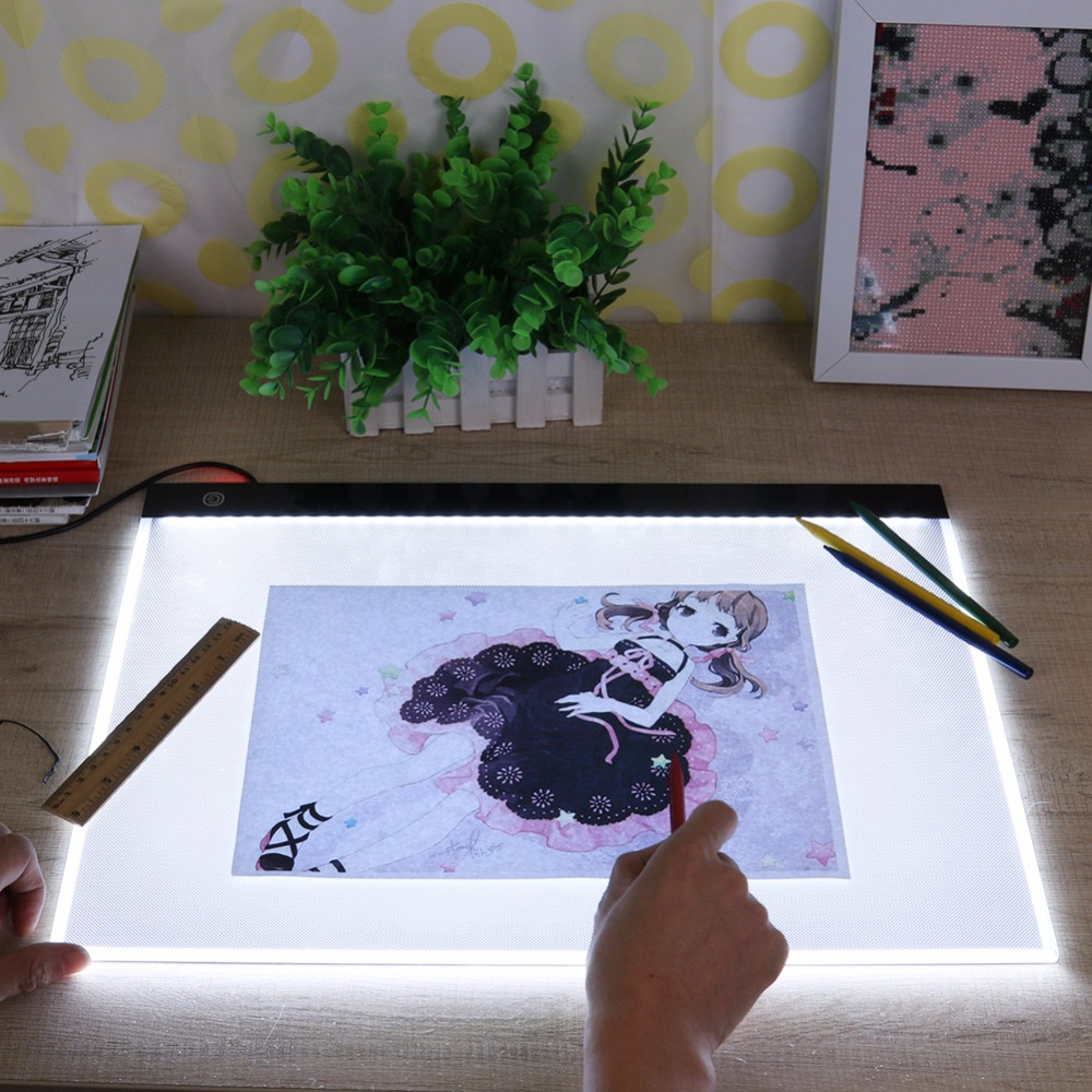 LED Graphic Tablet Paint Drawing tablet Light Box Tracing Board Copy Pad Digital Drawing Tablet Artcraft A3 Copy Graphic Tablet wrumava ultra thin a4 led writing painting light box tracing board copy pad drawing digital tablet artcraft copy table led board