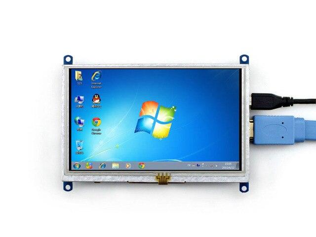 Raspberry Pi 5 дюймов HDMI ЖК-Дисплей Модуль 800x480 С Сенсорным экран Поддержка Raspberry Pi 3 B/2 B/A +/B/B +/Beaglebone черный