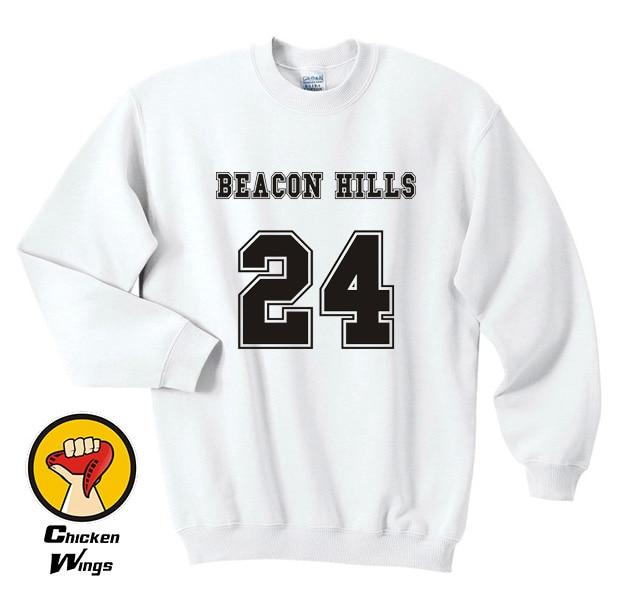 Beacon Hills Teen Wolf Sweatshirt Clothing 24 Crimson Red Women Sweatshirt -C831