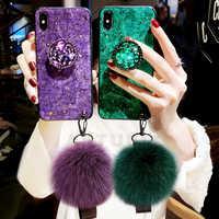 Luxus Glitter Fall Für iPhone XR Fall XS Max Fall Silikon Halter Fall Für iPhone 7 8 Fall Für iPhone 6 s 7 8 Plus Fall Abdeckung