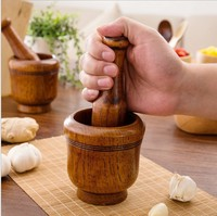 Household rammer kitchen tool wood pot burnisher puree garlic processor tamping pressure grinding medicine ginger triturator