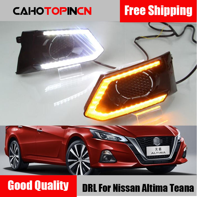2PCS LED Daytime Running Light For Nissan Altima Teana 2019 Waterproof Car 12V LED DRL fog
