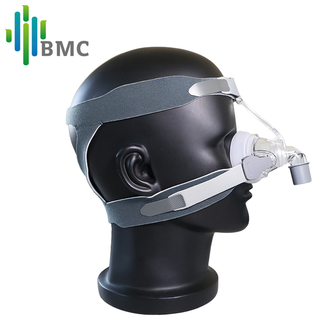 BMC NM4 Nasal Mask CPAP Mask with Headgear and SML 3 Size Silicon Cushion for CPAP Auto CPAP Sleep Snoring Apnea Health & Beauty 1