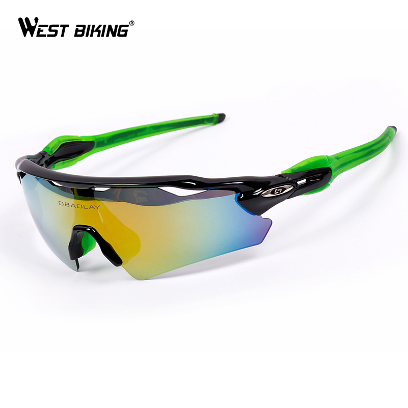WEST BIKING Polarized Bikes Eyewear Windproof Mypia Frame Box Sport Glasses Gafas Ciclismo MTB Road Bike Bicycle Cycling Glasses west biking bicycle riding glasses polarized glasses mountain bike outdoor sports equipment prescription windproof glasses