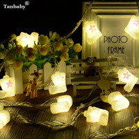 Tanbaby Christmas Boots Shoes Fairy String Lights Home Garden White Lights Santa Luces Decoration 3V AA