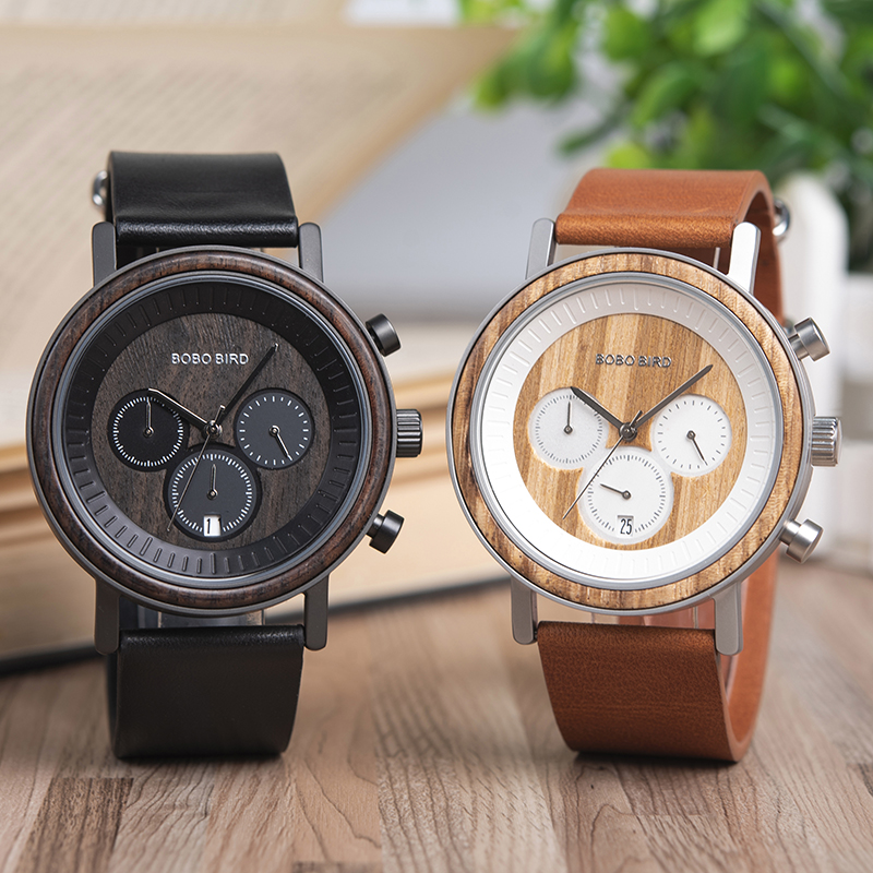 BOBO BIRD Mens Watches Top Brand Luxury relojes hombre Wooden Wristwatch Male Show date Gift  saat erkek TimepiecesBOBO BIRD Mens Watches Top Brand Luxury relojes hombre Wooden Wristwatch Male Show date Gift  saat erkek Timepieces