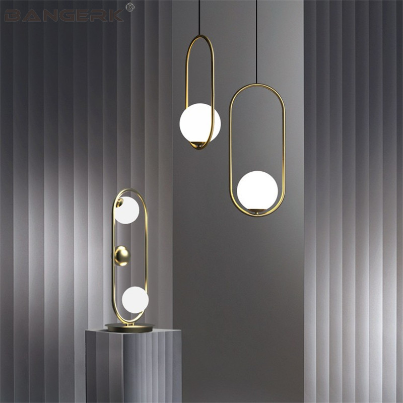 Nordic Design Loft Lamps Modern LED Pendant Lamp Iron Glass Ball Hanging Lights Pendant Lighting Home Decor Luminaire Fixtures iwhd 25 heads lampen iron modern pendant light fixtures glass ball led hanging lamp home lighting luminaire suspendu lustre