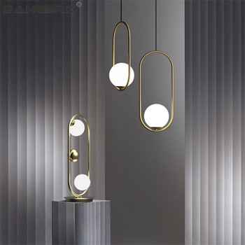 Nordic Ontwerp Loft Lampen Moderne LED Hanglamp Ijzer Glazen Bal Opknoping Lights Hanglamp Home Decor Armatuur Armaturen