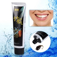 1pcs Bamboo Charcoal Toothpaste Teeth Whitening & Black Adult Toothpaste Scouring Insect-resistant Eat Vanilla Chocolate Scent