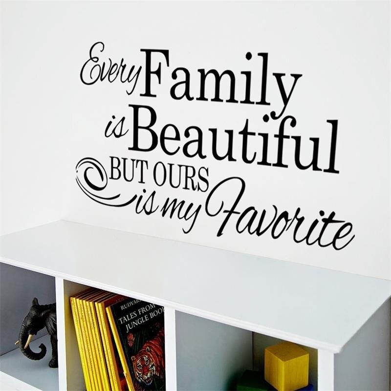 Manis Rumah Cinta Keluarga Mengutip Stiker Dinding Dekorasi