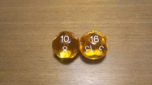 Free shipping Exclusive NEW Beautiful Gold Crystal dice 2pcs 16-sided D16 for board game/card game and other games accessories