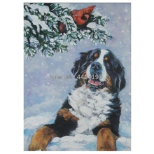snow bird full diamond embroidery patterns painting Cavalier King Charles Spaniel Dog pet Mosaic rhinestones needlework