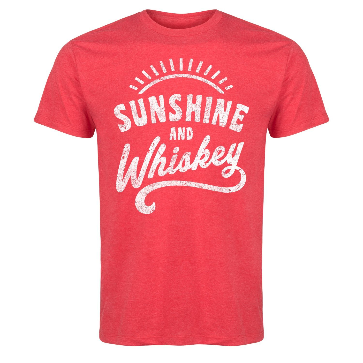 Sunshine and Whiskey Funny Summer Drinking Drunk Sunset Humor Whisky Mens T Shirt Men T-Shirt Cotton 100% Top Tee