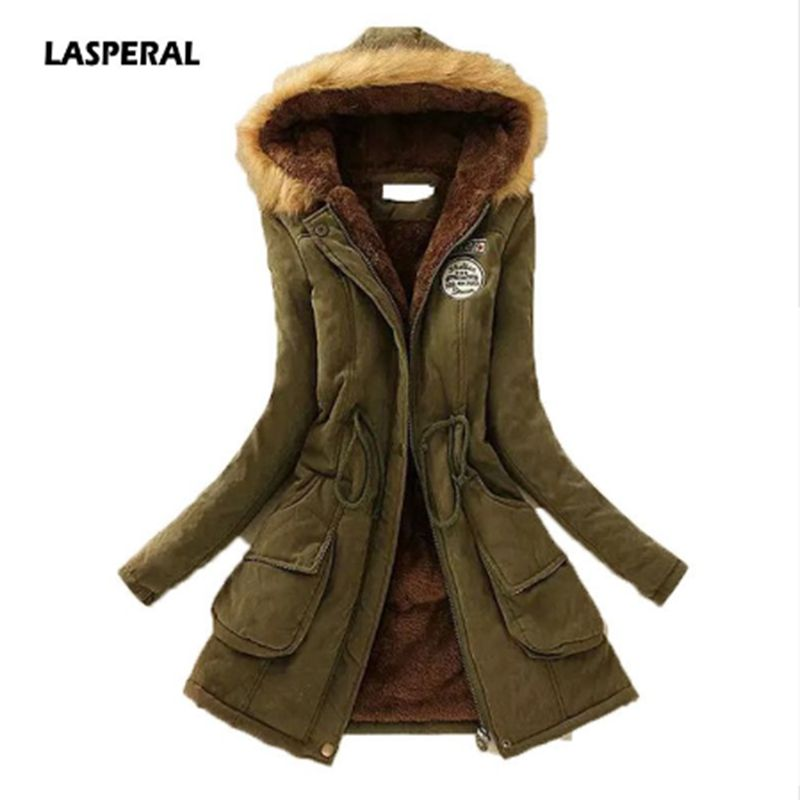 LASPERAL 2019 New   Parkas   Winter Jacket Womens Outwear   Parkas   Thickening Cotton for Women Winter Female Women Winter Coat