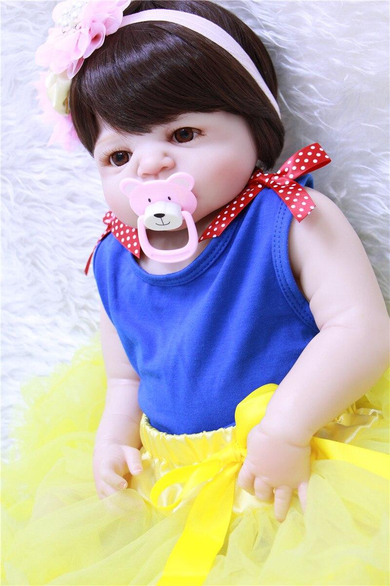 NPK 22 полное тело силиконовые Возрожденные куклы для малышей милая девочка bebes reborn bonecas для детские подарочные игрушки куклы реальные живые bonecas - 4