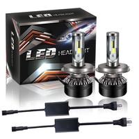 2pcs 60W Set H4 Car Headlamp Headlight Blub Auto Fog Lamp Hi Lo Beam LED Car