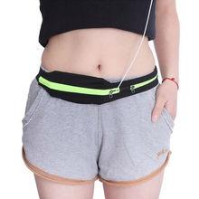 Carrying jogging pack double pocket waist belt mobile running sport portable
