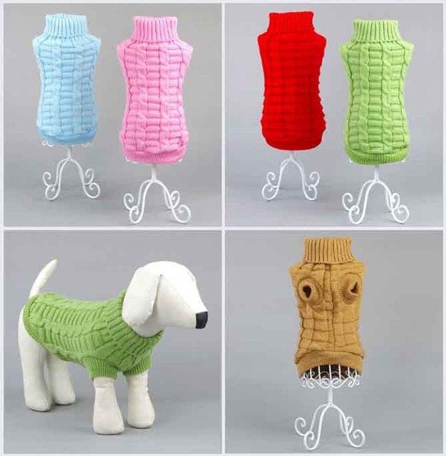 2015 Moda para mascotas perro ropa de perro suéter de punto de ...