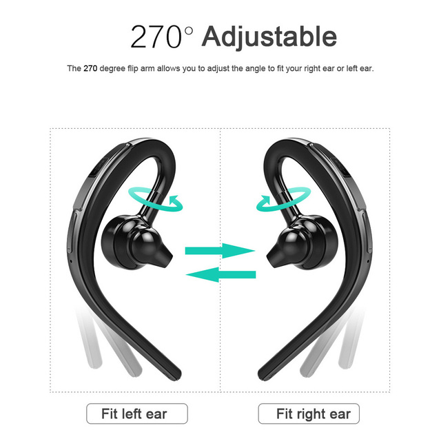 for Phone Car Driver Wireless Business Headset Single Ear Hook Bluetooth Earphone Headphone Handsfree Mic Microphone