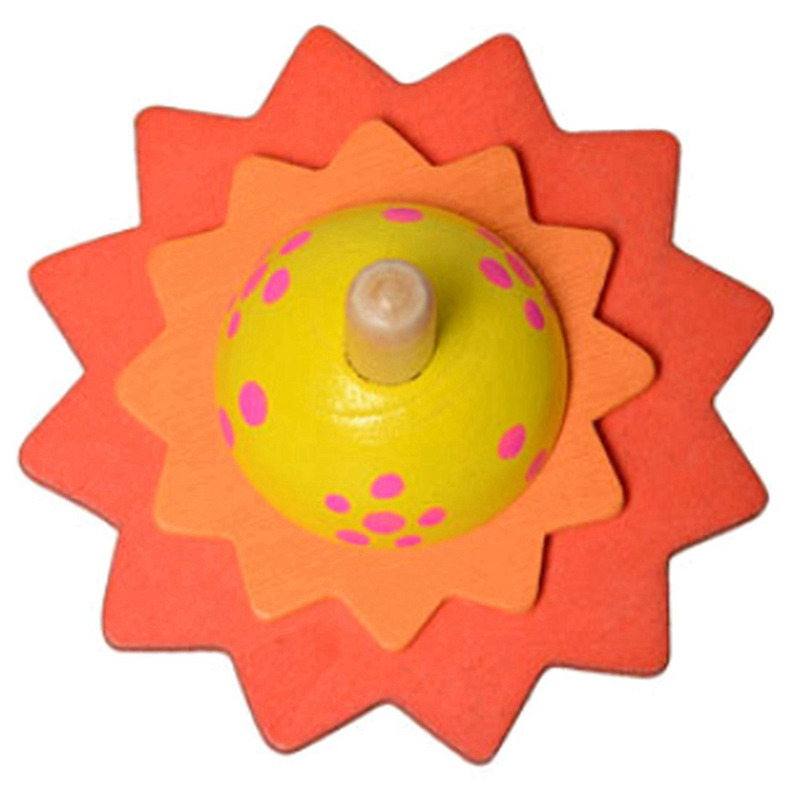 Spinning Tops Flower Spinning Top Wood Toy Mini Gyroscope Childrens Gyro Turn It Spin To Bloom Fingertips Wooden Toys For Kids Baby Gift Mx06 Toys & Hobbies
